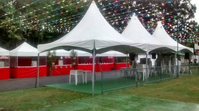 Barracas para Eventos Personalizadas Preço Campo Limpo - Alugar Barraquinhas