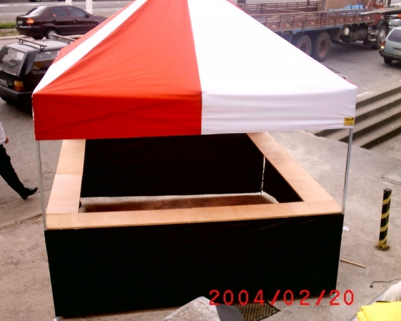 Tendas 3x3 Articulada Ponte Rasa - Tenda 3x3 Sanfonada