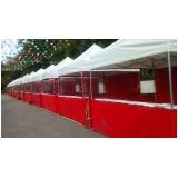 aluguel de barracas para festa preço Capão Redondo