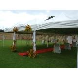 onde encontrar locação de tendas para casamento Guararema