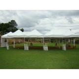 quanto custa aluguel de tenda para casamento Rio Grande da Serra