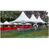 tenda sanfonada 3x3 na Cantareira