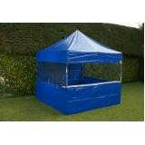 tenda sanfonada com balcão